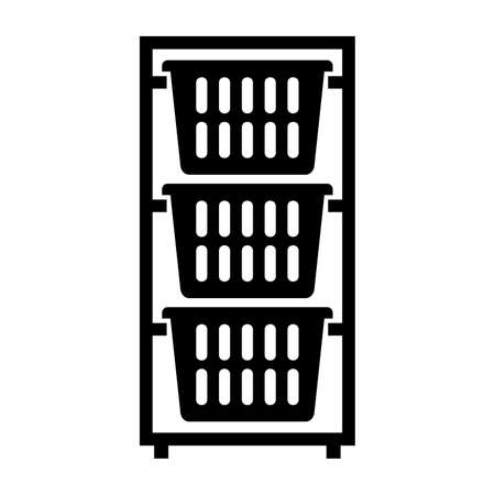 dresser: Laundry basket dresser, shade picture