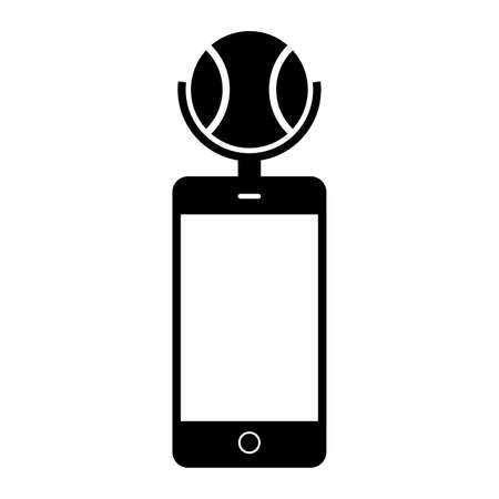 holder: Smartphone with a ball holder, shade picture Illustration