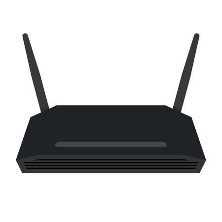 wan: Wireless router, shade picture Illustration