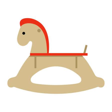 rocking: rocking horse Illustration