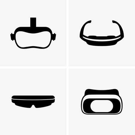 virtual: Virtual glasses, shade pictures Illustration
