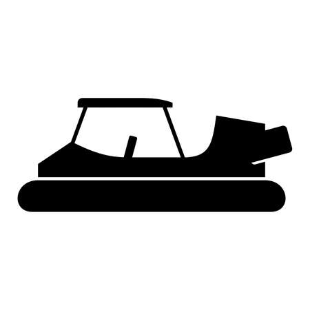 the hovercraft: Golf cart hovercraft, shade picture Illustration