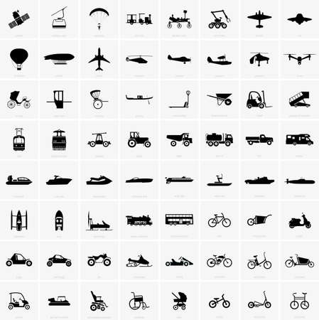 aéroglisseur: icônes de transport