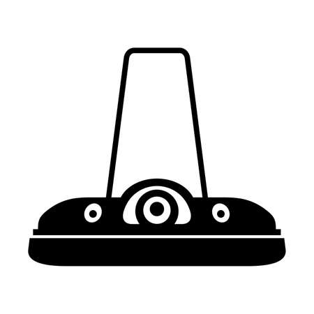 the hovercraft: Levitating hover scooter, shade picture Illustration