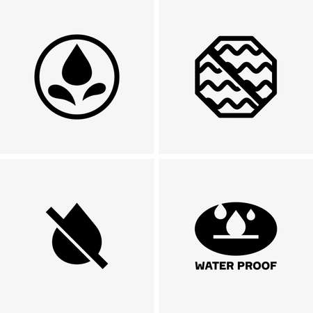 Waterproof symbols Vector Illustration