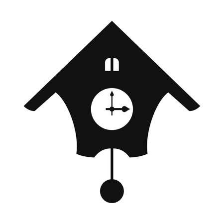 reloj cucu: reloj de cuco, cortina cuadro Vectores