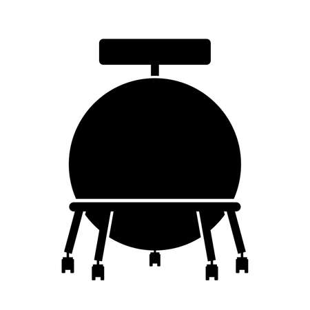 exercise silhouette: Ball chair, shade picture Illustration