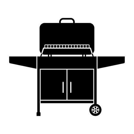 yard sign: Outdoor grill, shade picture Illustration