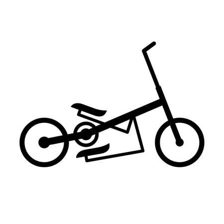 elliptical: Elliptical bike in profile