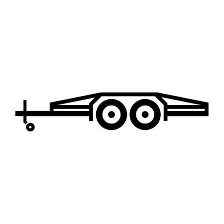 tilt: Flatbed tilt trailer Illustration