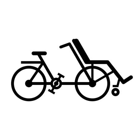 adapted: Wheelchair bike in profile Illustration