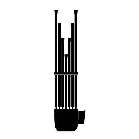 sho: Sho, musical instrument Illustration