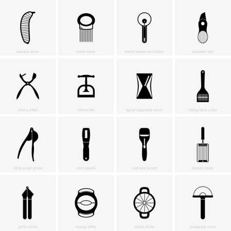 peeler: Cutting kitchen tools Illustration