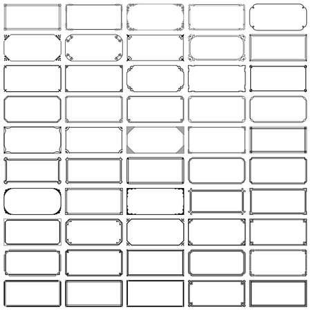 50 rectangle frames