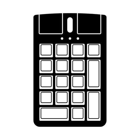 teclado numérico: Teclado numérico con un ratón Vectores