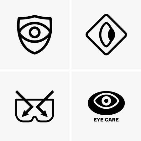 care: Eye care symbols
