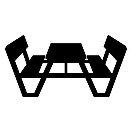 yard sign: Picnic table, shade picture Illustration