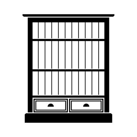 bookcase: Bookcase with drawers Illustration