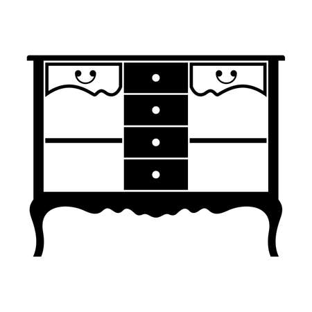 console table: French-style console table Illustration