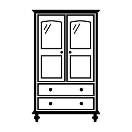 Girl's armoire Illustration