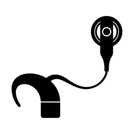 Cochleair implantaat, schaduwbeeld Vector Illustratie