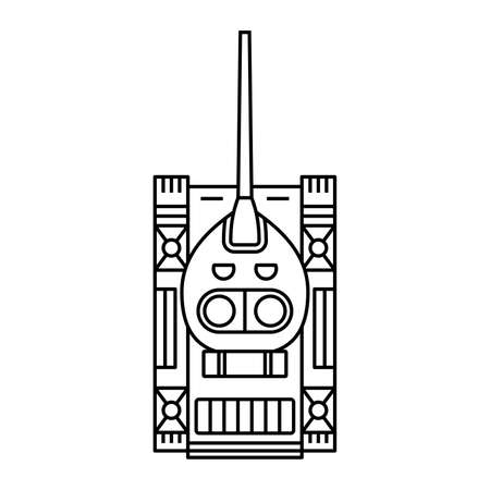 vehicle track: Tank (top view) Illustration