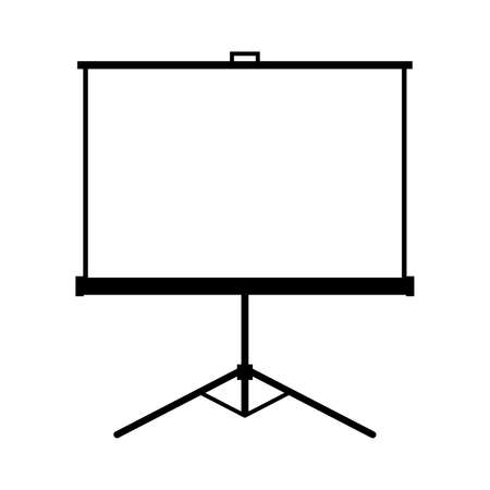 projector: projector screen Illustration