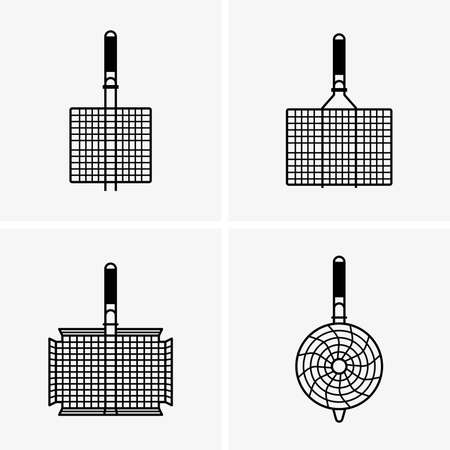 grill: Barbecue grill grids Illustration