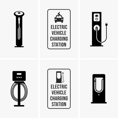 recharging: Electric car charging stations