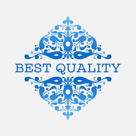 best quality: Floral Best quality label