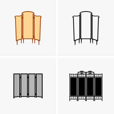 folding screens: Dressing screens