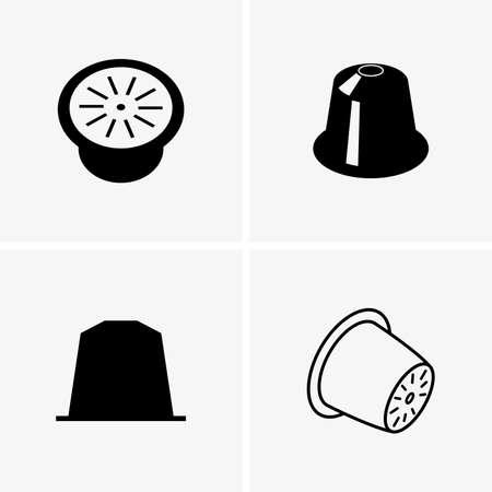 koffiecapsules Vector Illustratie