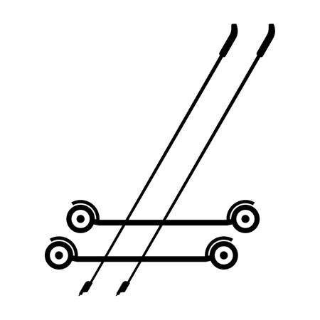 street symbols: roller skiing Illustration