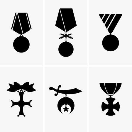 Military medals Vektoros illusztráció
