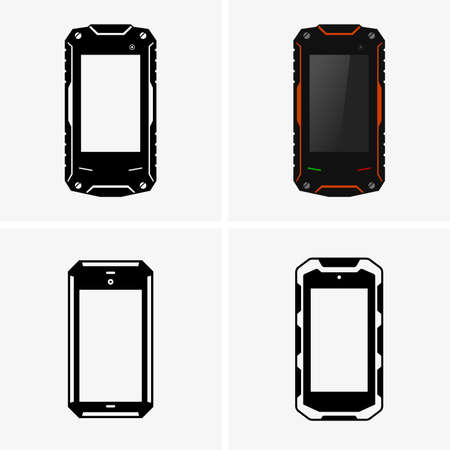 mobile cellular: Protected smartphones Illustration