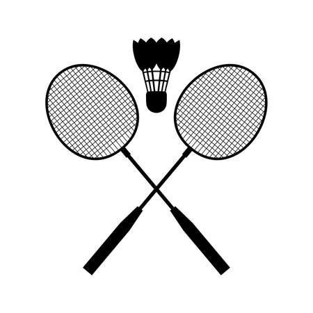 action sports: badminton equipment Illustration