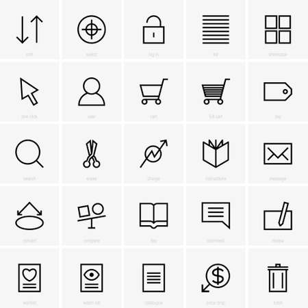 web site: web site icons Illustration