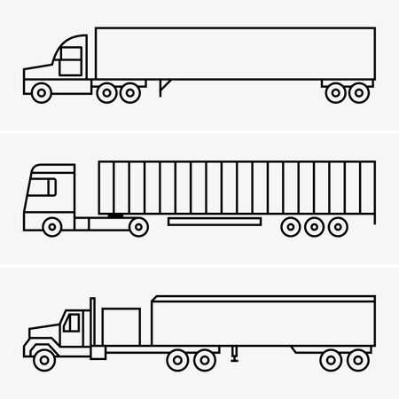 semitrailer: semi-trailer truck