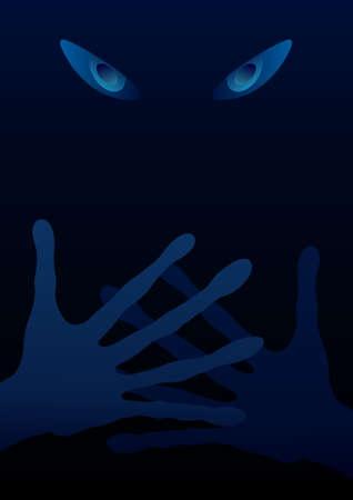 dark eyes: Extraterrestrial background (eyes and hands in the dark)