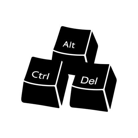 del: ctrl alt del buttons Illustration
