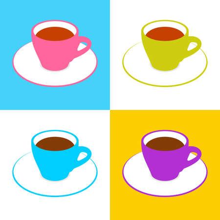 eatery: cups of coffee Illustration