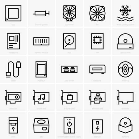 computer: Computer components icons