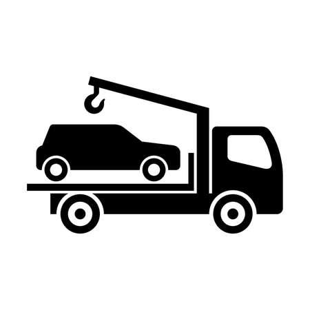 truck crane: car evacuation