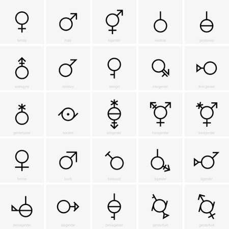 Simboli di genere Archivio Fotografico - 72221922