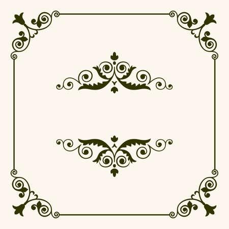 vintage border: decorative frame
