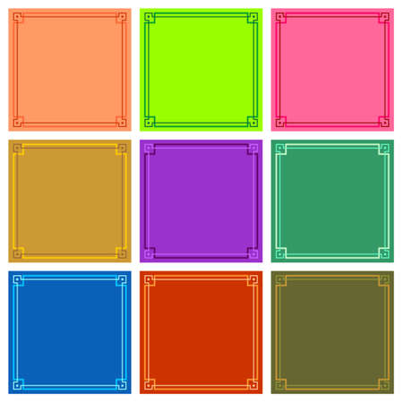 backgrounds: Colour frame backgrounds