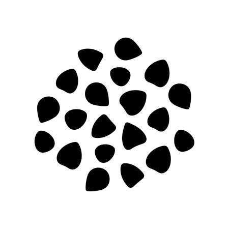 Artistic design of a buckwheat.