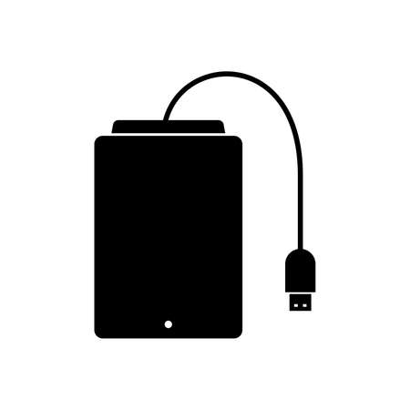 hard drive: external hard drive Illustration