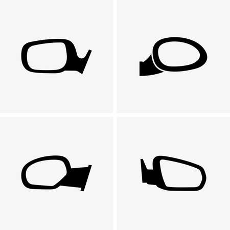 Set of side mirrors Illustration