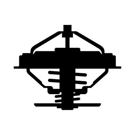 alfa: Automotive thermostat, shade picture Illustration